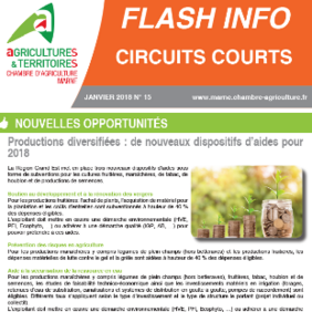 Flash info circuits courts n°15 janvier 2018